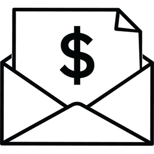 Understanding Your Salary - Paycheck in envelope vector.