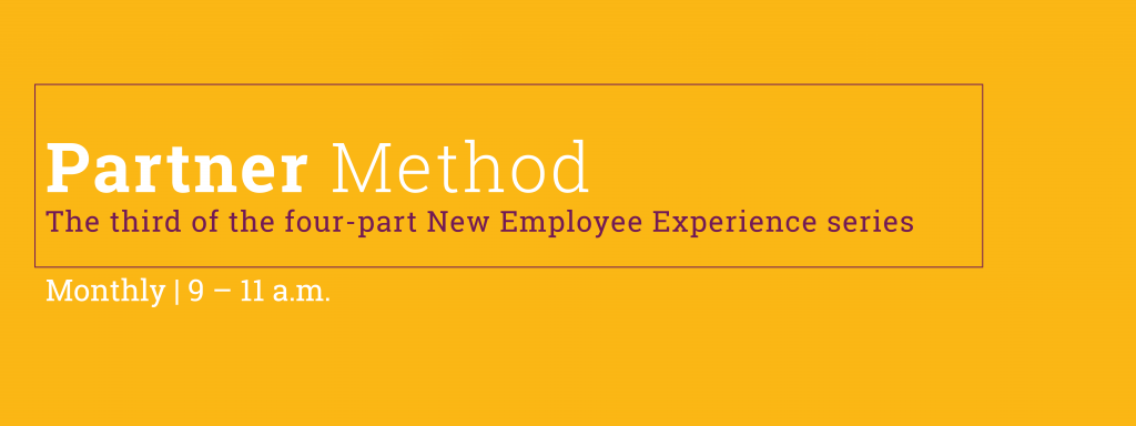 Welcome to Tech: the Partner Method