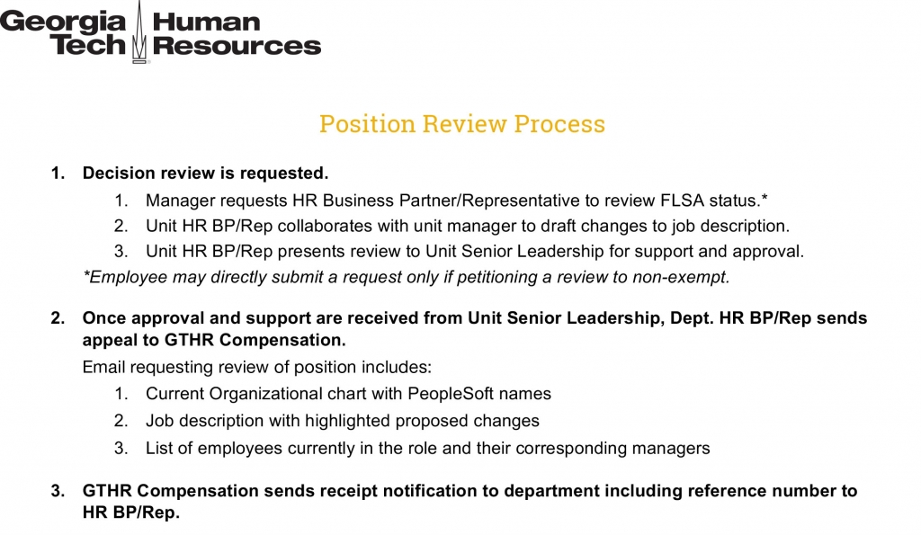 Position Review Process - July 2017